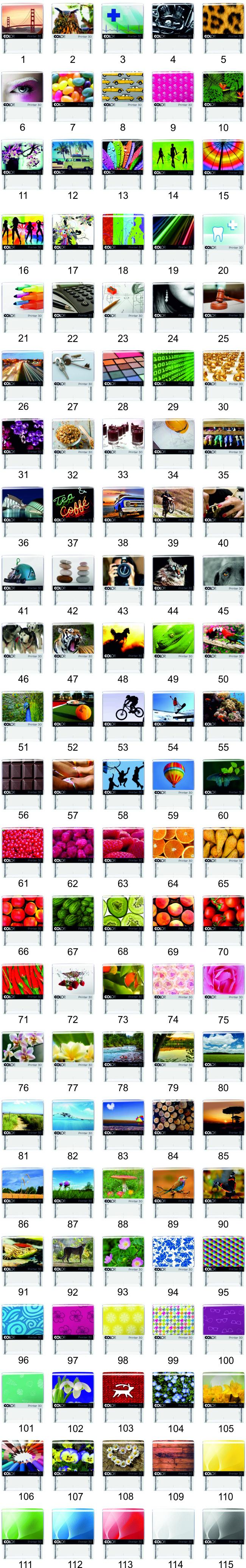 wzory karteczek indeksujących